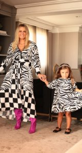 Vestido Infantil Zebra Blessinha Marcela | DNA Blessed