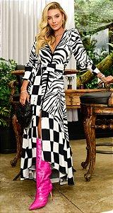 Vestido Midi Zebra Marcela | DNA Blessed
