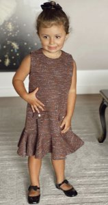 Vestido Tweed Infantil Blessinha Amanda | DNA Blessed