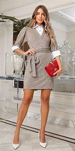 Vestido Gola Camisa Caroline | DNA BLESSED