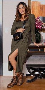 Vestido Midi Tricot c/ Fenda Carmem | DNA BLESSED