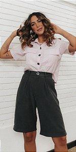 Camisa Cropped Básica Tricoline Íris | DNA BLESSED