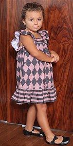 Vestido Blessinha Losango Sarah | DNA BLESSED