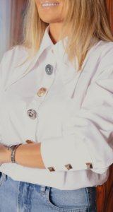 Camisa Tricoline Mix de Botões Lucia | DNA BLESSED