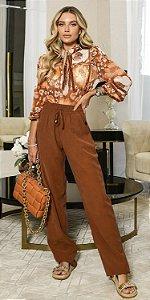 Calça Pantalona C/ Elástico Giovanna | DNA BLESSED