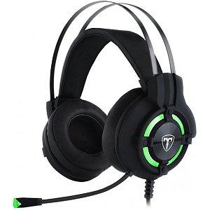 Headset Gamer T-Dagger Andes T-RGH300 Preto e verde