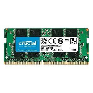 Memória notebook 4GB DDR4 2666MHZ Crucial CB4GS2666