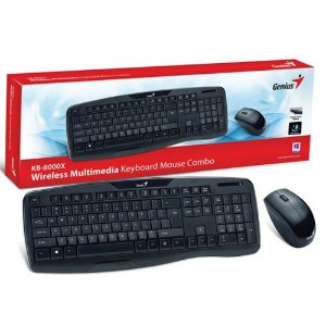 Kit Teclado E Mouse Genius Sem Fio Kb-8000x Usb