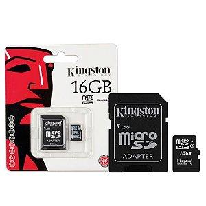 Cartão De Memória 16gb Micro Sd + Adaptador SD - Kingston