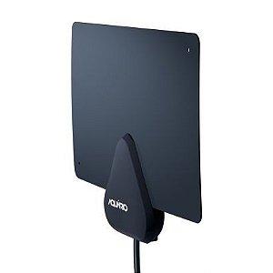 Antena Interna Digital  Dtv-200 Flat - 4 Em 1 Vhf Uhf Fm Hdtv - Aquário