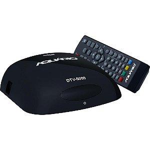 Conversor e Gravador Digital de TV Full HD - DTV 5000 Bivolt -Aquário