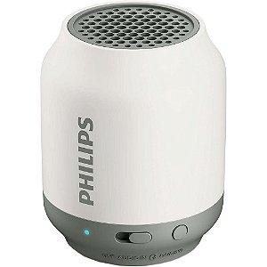 Caixa de Som Bluetooth  BT50WX/78 Branca 2W Entrada Auxiliar - Philips