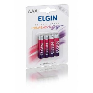 Pilha Recarregável AAA  Energy Blister C/4 900mah 1,2v ELGIN