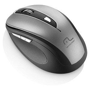 Mouse Sem Fio Multilaser 2.4 Ghz Comfort 6 Botoes Cinza e Preto Usb - MO238