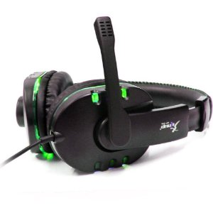 Fone De Ouvido Headset Game Usb Microfone Knup  KP-359 Preto/Verde