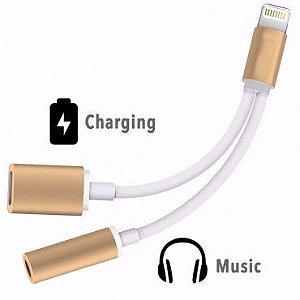 Cabo Adaptador Lightning + P2 Fone de Ouvido para iPhone - CA-G7