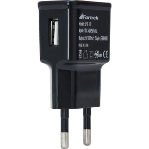 Carregador USB 1A UPK-101 Preto FORTREK