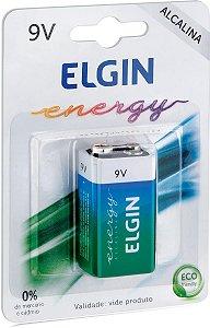 Bateria 9V Alcalina Elgin