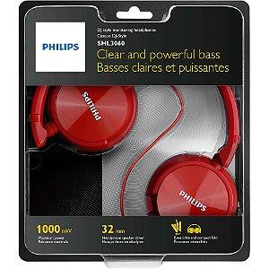 Fone de Ouvido Estilo DJ com Graves Nítidos SHL3060RD/00 Vermelho Philips