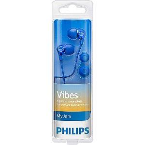 Fone de Ouvido Philips SHE3700BL/00 Azul