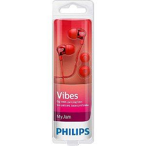 Fone de Ouvido Philips SHE3700RD/00 Vermelho