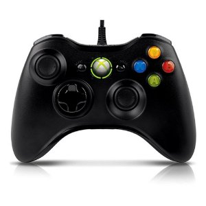 Controle Com Fio Xbox 360 Preto