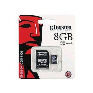 Cartão De Memória 8gb Micro Sd + Adaptador SD- Kingston