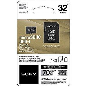 Cartão de memória MicroSDXC Sony Classe 10 70MB/s 32GB sn