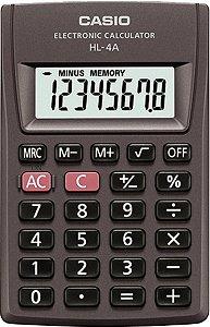 Calculadora de Bolso Casio HL-4A-S4-SP Preta