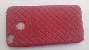 CAPA Xiaomi Redmi 4X Tela 5.0  vermelha com textura