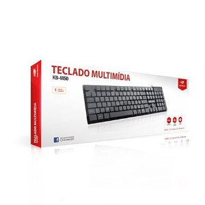 Teclado C3TECH KB-M50BK USB Multimída Preto