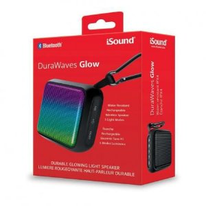 Caixa de Som Bluetooth Isound Durawaves Glow BT-6707 Preta