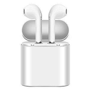 Fone de Ouvido Sem Fio WES-01 com Bluetooth - Branco