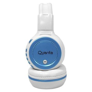 Fone de ouvido Bluetooth Quanta QTMHP1600 Branco/Azul