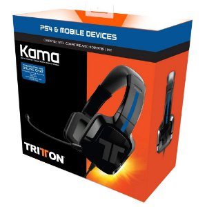 Headset PS4 Tritton Kama com Fio - Preto