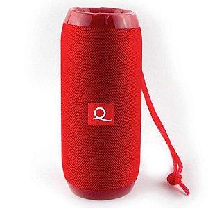 Caixa de Som Bluetooth Quanta QTSPB-33 Vermelha
