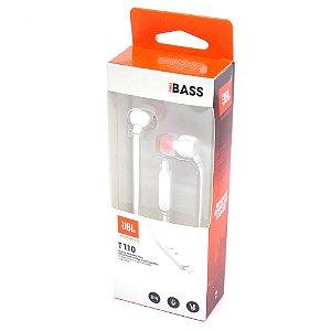 Fone de Ouvido JBL T110 com Microfone - Branco