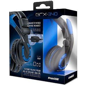 Headset PS4 Playstation 4 Xbox One Dreamgear GRX-340 - Azul