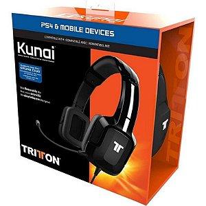 Headset Xbox One Ps4 Tritton Kunai Com Fio - Preto