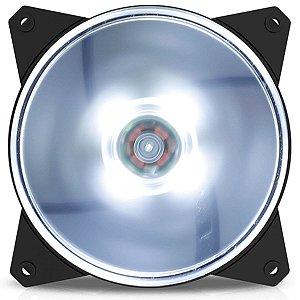 Cooler Fan para Gabinete Masterfan 120mm MF120L Led Branco - R4-C1DS-12FW-R1