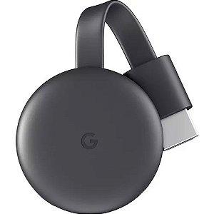 Chromecast 3 Geração Google Wi Fi /hdmi - Preto