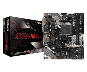 Placa Mãe Asrock AMD A320M-HDV R4.0 Socket AM4 Chipset AMD A320