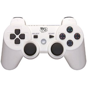 Controle Doubleshock Ps3 Playstation 3  Branco - Play Game