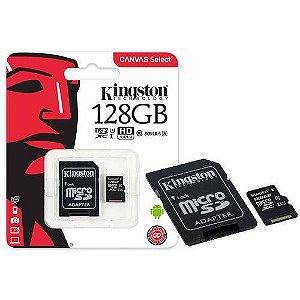 Cartão de Memória micro sd 128gb classe 10 80mb/s Kingston