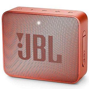 Caixa de som Bluetooth JBL GO 2 Laranja Original