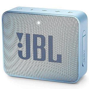 Caixa de som Bluetooth JBL GO 2 Azul Claro Original