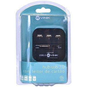 Hub USB 2.0 com leitor de cartão Vinik