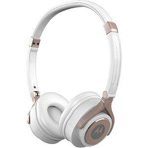 Fone de ouvido Motorola Pulse 2 com microfone - Branco