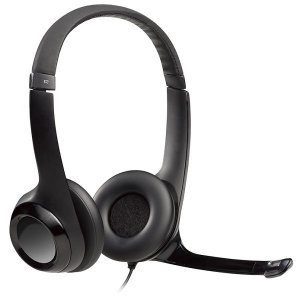 Fone com Microfone Logitech Stereo H390 - Preto