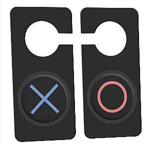 Aviso de porta Gamer Botões X e Bola